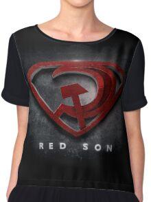 Superman Red Son Chiffon Top
