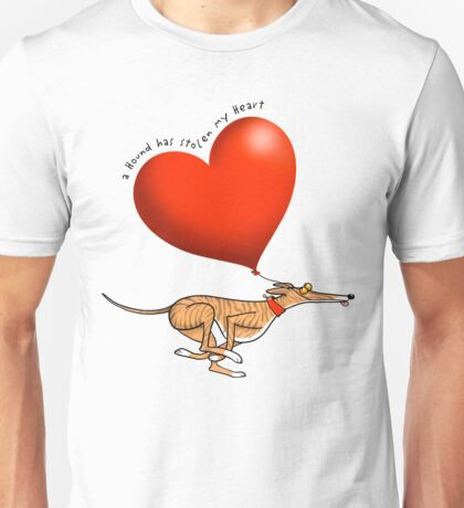 Stolen Heart - brindle hound Unisex T-Shirt