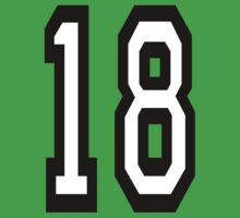 18, TEAM SPORTS, NUMBER 18, EIGHTEEN, EIGHTEENTH, ONE, EIGHT, Competition,  Baby Tee