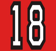 18, TEAM SPORTS, NUMBER 18, EIGHTEEN, EIGHTEENTH, ONE, EIGHT, Competition,  One Piece - Short Sleeve