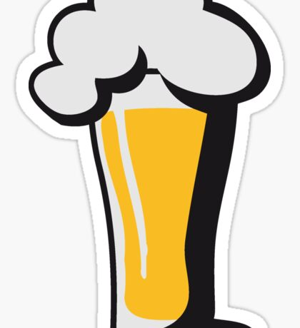 Beer drinking glass drinking alcohol Sticker