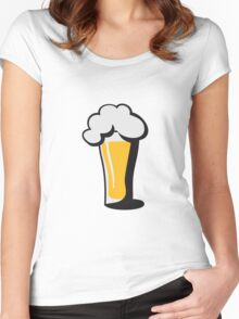 Beer drinking glass drinking alcohol Women's Fitted Scoop T-Shirt