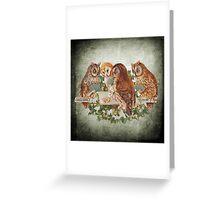 Vintage Owl Greeting Card