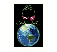 Invader from Planet Irk Art Print