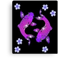 Purple Asia Koi Canvas Print