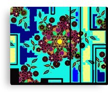 ZEN BLUE GARDEN WINDOW Canvas Print