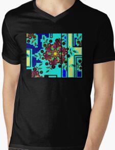 ZEN BLUE GARDEN WINDOW Mens V-Neck T-Shirt