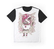 Cyborg Punk Weirdo in Pink Graphic T-Shirt