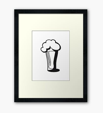 Beer drinking glass drinking alcohol Framed Print
