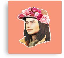 Piper Flowercrown Canvas Print
