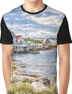 Indian Harbour - painted Graphic T-Shirt