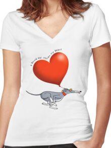 Stolen Heart - blue hound Women's Fitted V-Neck T-Shirt