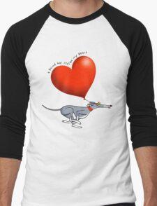 Stolen Heart - blue hound Men's Baseball ¾ T-Shirt