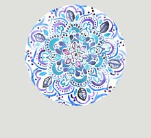 The Blues - Watercolor Mandalas Womens Fitted T-Shirt