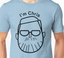 I'm Chris (black lines) Unisex T-Shirt