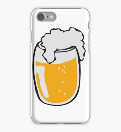 Drinking beer glass drink iPhone Case/Skin