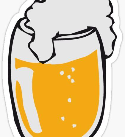 Drinking beer glass drink Sticker