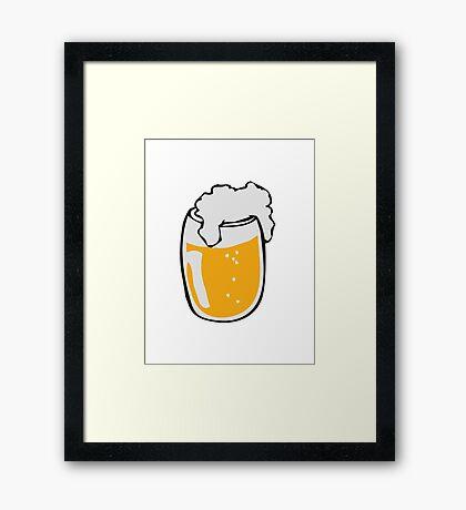 Drinking beer glass drink Framed Print