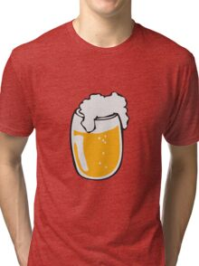 Drinking beer glass drink Tri-blend T-Shirt