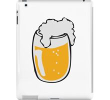 Drinking beer glass drink iPad Case/Skin