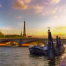Sunset on the Seine by John Rivera