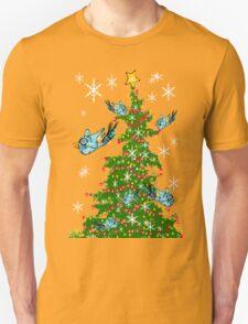 Snow Birds Decorate the Christmas Tree Unisex T-Shirt