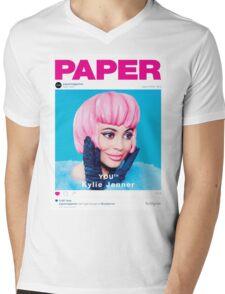 KYLIE JENNER - PAPER MAGAZINE Mens V-Neck T-Shirt