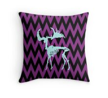 Irish Elk Skeleton Throw Pillow
