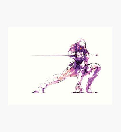 MGS - Raiden Art Print