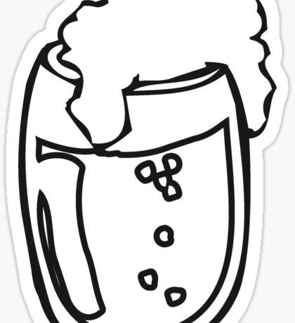 Drinking beer glass drink Sticker