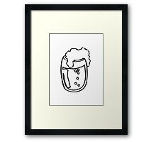 Drinking beer glass drink Framed Print