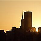 Manhattan sunset by Jean-Luc Rollier