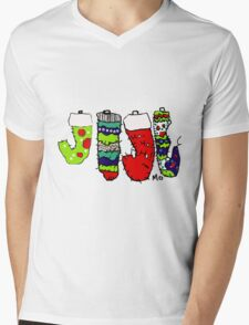 Christmas Stockings Mens V-Neck T-Shirt