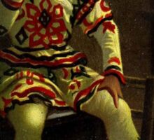 Historical clown painting Sticker