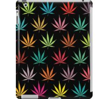 Cannabis Leaf Multi-coloured Pattern iPad Case/Skin