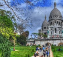 Sacre Couer with greenery .. HDR Sticker
