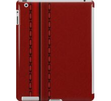 Red Stitched leather automotive texture and materials  iPad Case/Skin