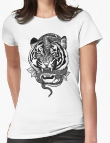 Tigersnake Womens Fitted T-Shirt