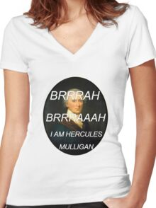 Hercules Mulligan Hamilton Musical Women's Fitted V-Neck T-Shirt