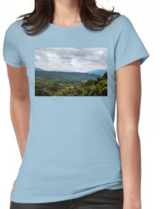 Trees and Mountains on High Womens Fitted T-Shirt