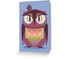 THE SAT UPON OWL Greeting Card