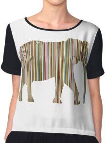 Designer Elephant Chiffon Top