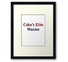 Cuba's Elite Warrior  Framed Print