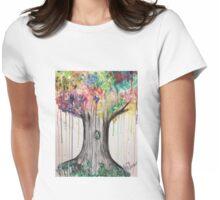 Splashing tree Womens Fitted T-Shirt
