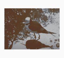 Black-winged Stilt - Sepia Baby Tee