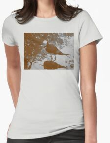 Black-winged Stilt - Sepia Womens Fitted T-Shirt
