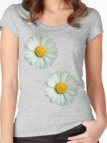 Two white daisies Women's Fitted Scoop T-Shirt
