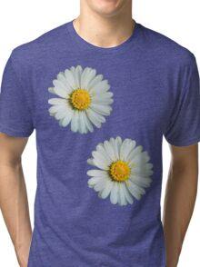 Two white daisies Tri-blend T-Shirt