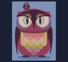 THE SAT UPON OWL Kids Tee