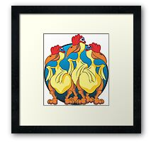 Three Chickens Framed Print